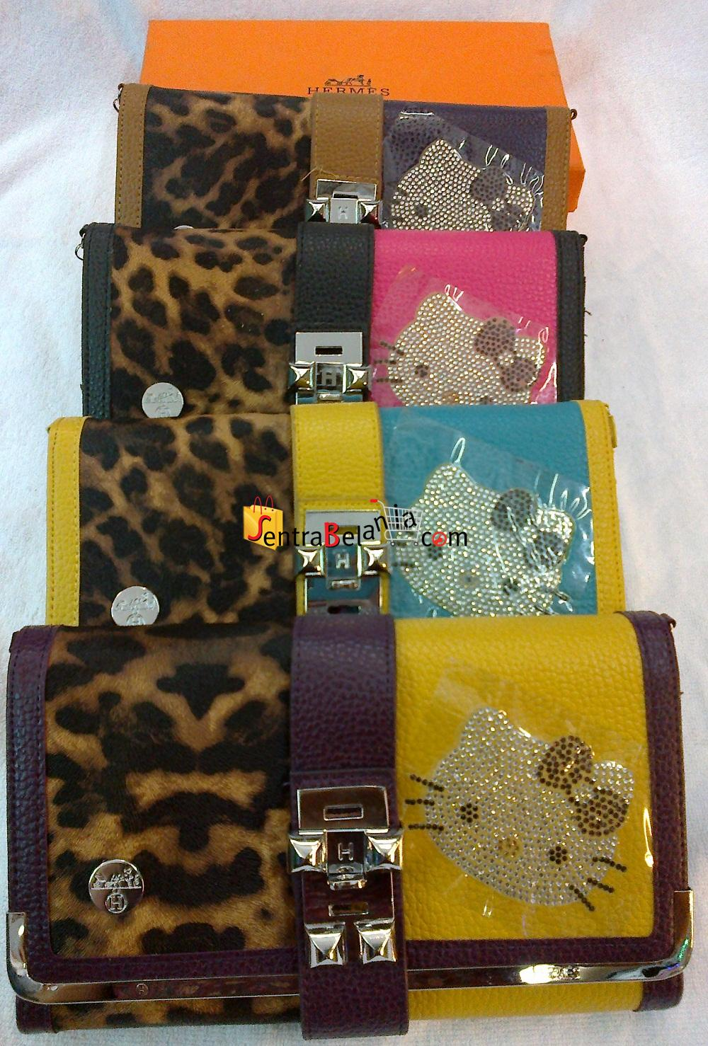 Dompet Hermes Hello Kitty Leopard 1 Colour