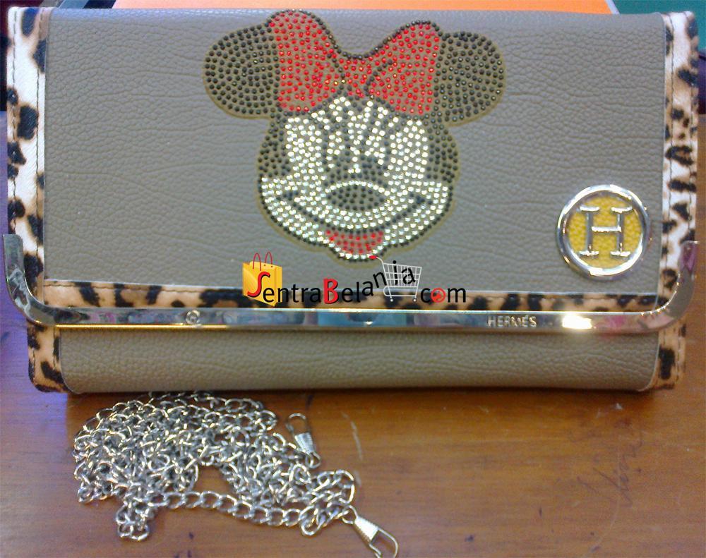 Dompet Hermes Minnie Mouse Leopard 1 Colour