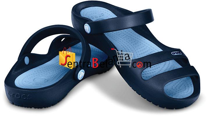 Sandal Crocs Cleo Navy-Light Blue