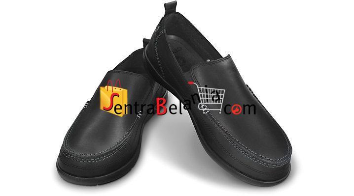 Sepatu Crocs Harborline Loafer Black
