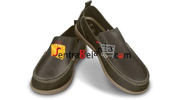 Sepatu Crocs Harborline Loafer Espresso-Khaki