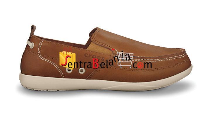 Sepatu Crocs Harborline Loafer Hazelnut-Stucco