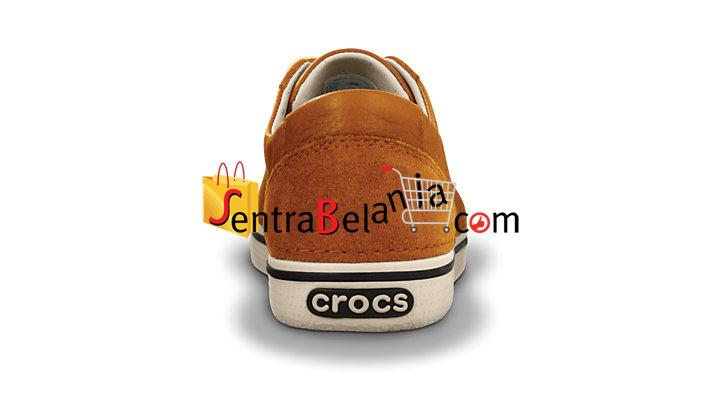 Sepatu Crocs Hover Lace Up Leather Chesnut