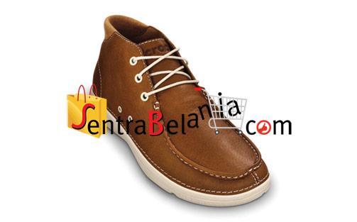 Sepatu Crocs Thompson Mid Leather Hazelnut