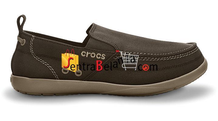 Sepatu Crocs Walu Men Espresso-Khaki
