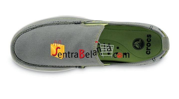 Sepatu Crocs Walu Men Grey-White