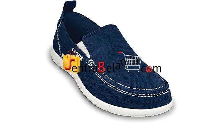 Sepatu Crocs Walu Men Navy-White