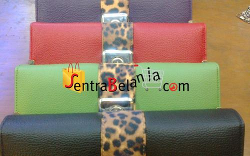 Dompet Hermes Leopard Box Lock 1 Color
