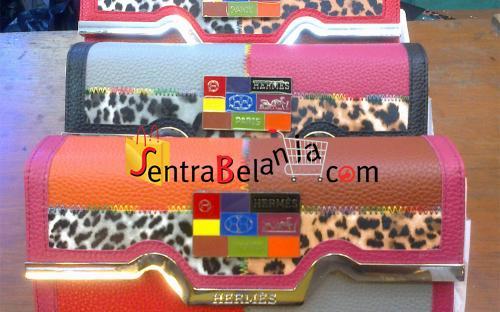 Dompet Hermes Leopard 4 Color