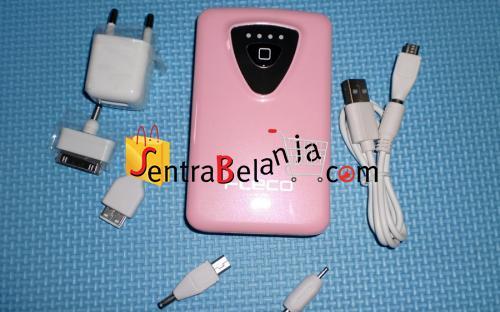 Powerbank Fleco 8400mAH Pink