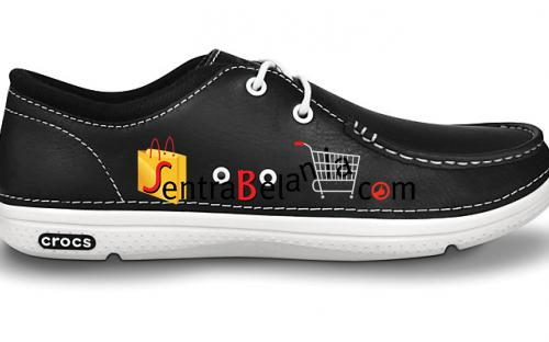 Sepatu Crocs Thompson Lace Leather Black