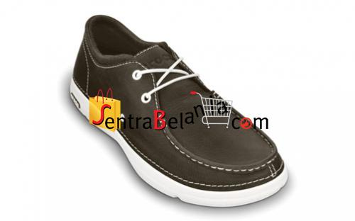 Sepatu Crocs Thompson Lace Leather Espresso